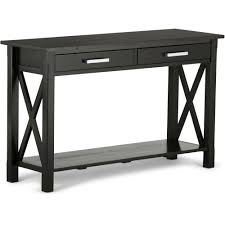 simpli home kitchener console sofa table walmart com