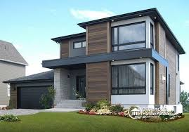 contemporary modern house w3713 v1 affordable contemporary modern home plan with family