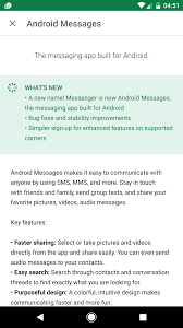 google messenger renamed android messages android