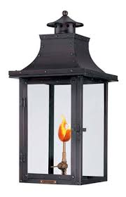 outdoor gas light fixtures the bienville natural gas lantern