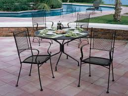Woodard Patio Furniture - woodard wrought iron 42 round 4 spoke table with umbrella hole
