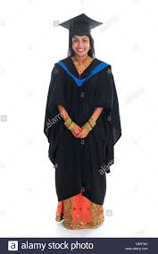 graduation gown happy indian student in graduation gown and
