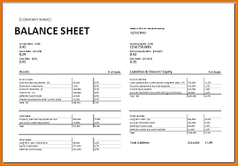 Balance Sheet Template 8 Excel Balance Sheet Template Itinerary Template Sle