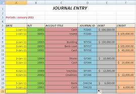 Journal Entry Template Excel It S Create The Journal And Journal Entry With Excel Part 2