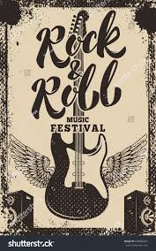 rock roll music festival poster template stock vector 648586924