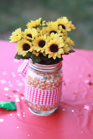 centerpiece for farm themed birthday party parties pinterest