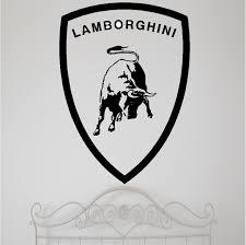 lamborghini logo lamborghini emblem wall stickers u0026 decals