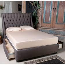 black upholstered wingback bed davet upholstered panel bed image