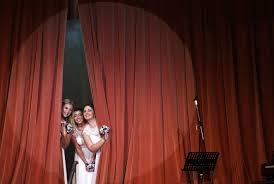 Curtain Dancing Band Aids Ballroom Dancing And Big White Dresses Abc News