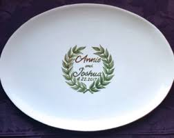 guest signing plate ceramic guest book etsy