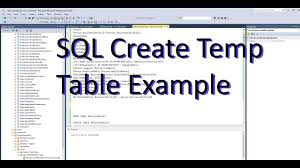 Create Temporary Table Sql Create Temp Table And Insert With Select Adventure Works