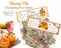 thanksgiving blessing mix treat bags thanksgiving toppers happy