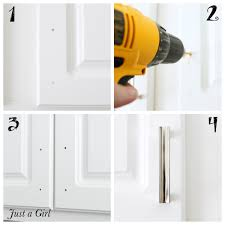 how to install knobs on kitchen cabinets how to install cabinet hardware just a