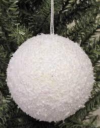 iridescent glitter snowball ornament ornaments