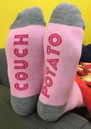 Couch Potato Gif Wine O U0027clock U0026 Left U0026 Couch Potato Socks Bellelily