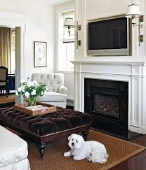 Corner Gas Fireplace With Tv Above by Hanging Your Tv Over The Fireplace Yea Or Nay Driven By Decor
