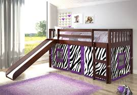 Bunk Bed With Slide And Tent Mission Zebra Tent Loft Bed With Slide Kitchen