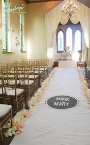 Isle Runner 40ft Ivory Wedding Aisle Runner With Custom Monogram Initials W