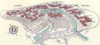 Walt Disney World Resorts Map by Port Orleans History