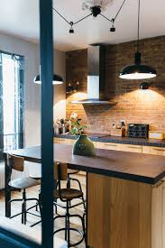 cuisine industrielle deco nuances de bleu style industriel frenchy collection et cuisine