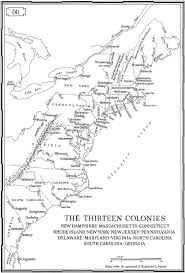 the thirteen colonies map 13 colonies map