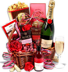 valentines baskets an evening of indulgence s day gift basket flowerica