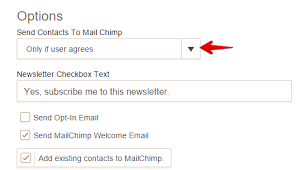 how to integrate with mailchimp jotform