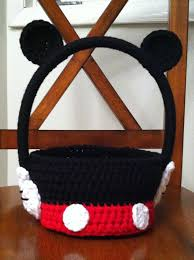 mickey mouse easter baskets crochet mickey mouse easter basket things i am going to make