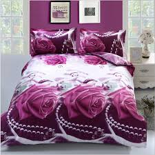 King Size Duvet Covers Canada 4pcs 3d Purple Rose Reactive Dyeing Bedding Sets Queen King Size
