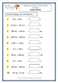 grade 3 maths worksheets 13 3 measurement of capacity addition