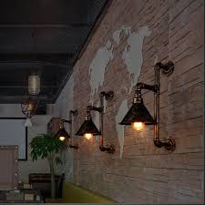 Edison Wall Sconce Vintage Industrial Edison Wall Lamps Metal Water Pipe Wall Sconce