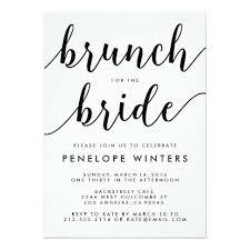 bridal shower brunch invite chic script brunch bridal shower invitations stationery