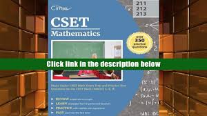 audiobook cset mathematics study guide cset math exam prep and