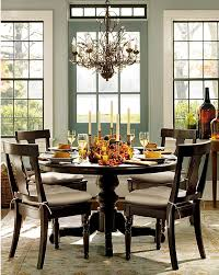 dining rooms metal chandelier candlesticks round dining table