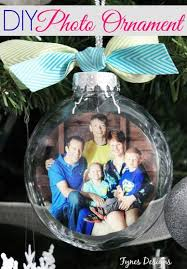diy glass photo ornament clear ornaments family photos and