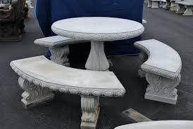 cement table and bench cement table and benches round table set cement round table with