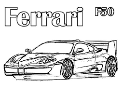 drawing ferrari cars f50 colouring page colouring tube
