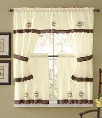 coffee kitchen curtains coffee espresso latte cafe ivory brown kitchen curtains tiers
