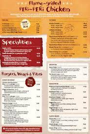 restaurants with light menus menu at nando s restaurant robina 126 robina town centre dr