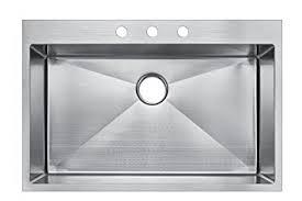 Starstar  X  Topmount Single Bowl Kitchen Sink Dropin - Drop in single bowl kitchen sinks