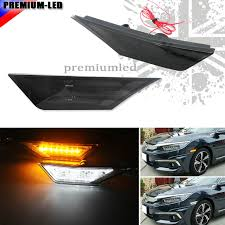 led side marker lights 2 oem jdm style smoked lens led side marker lights for 2016 up 10th