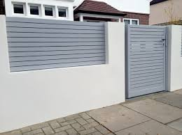 stunning modern boundary wall designs with gate including front