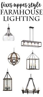 Farmhouse Ceiling Light Fixtures Fixer Style Farmhouse Lighting The Happier Homemaker