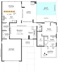 story traditional style house plan with open living space 4 2