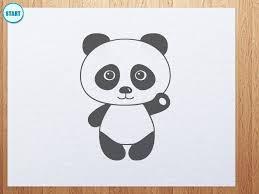 easy panda drawings how to draw cartoon pandas from the word panda