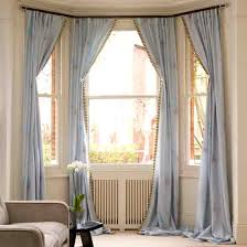 5 Sided Curtain Pole For Bay Window Short Curtains Square Bay Window Ideas For The House Pinterest