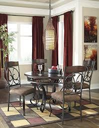 round metal dining room table amazon com gloombrey dark bronze round metal dining room table w