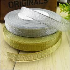 silver glitter ribbon 25yards golden silver glitter ribbon 6mm 10mm 15mm 20mm 25mm
