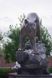 mountain lion statue free photo statue mountain lion cat free image on