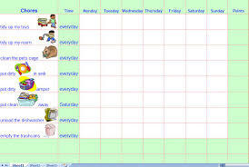 family daily chore chart template free chore chart for teenage